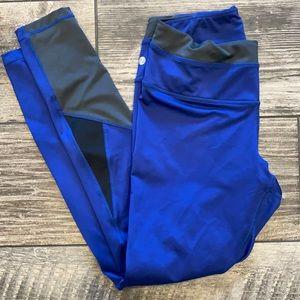 Zella Athletic Leggings Blue Black Gray M
